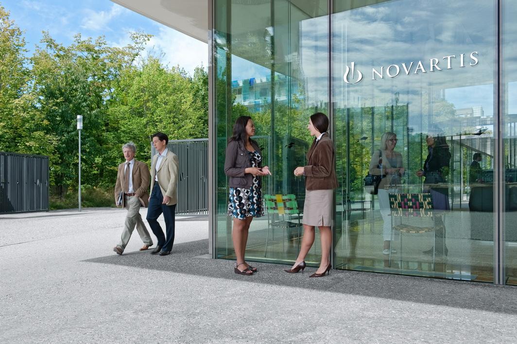Die Rezeption als Eingang in den Novartis-Campus