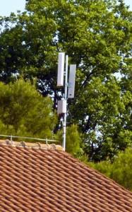 WIFI-Antennen auf allen Waschhäusern des Campingplatzes Solaris