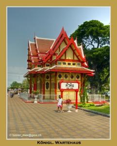 Königliches Wartehaus beim Bahnhof Hua-Hin