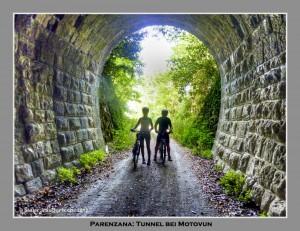 Parenzana: Tunnel vor Motovun