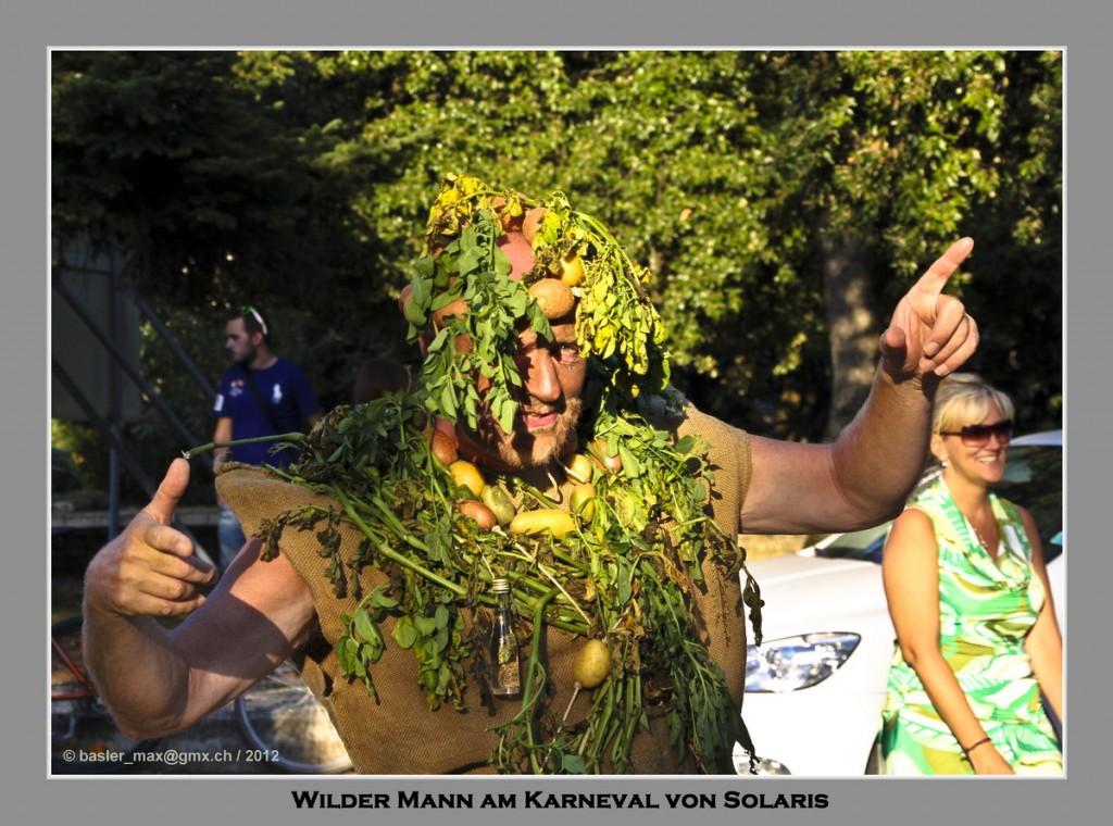 Wilder Mann beim Karneval von Solaris