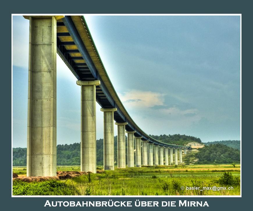 Autobahnbrücke über die Mirna