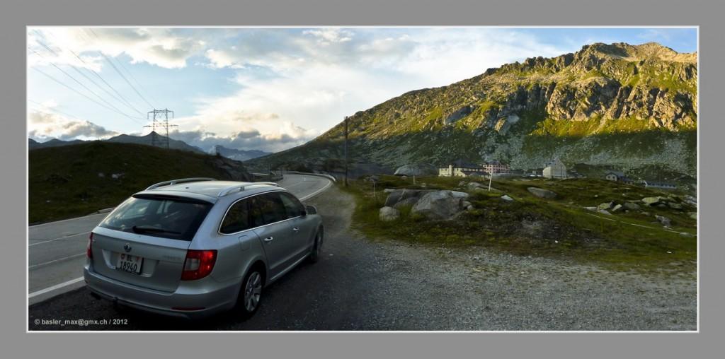 Auf der Gotthard-Passhöhe von 2107 m über Meer
