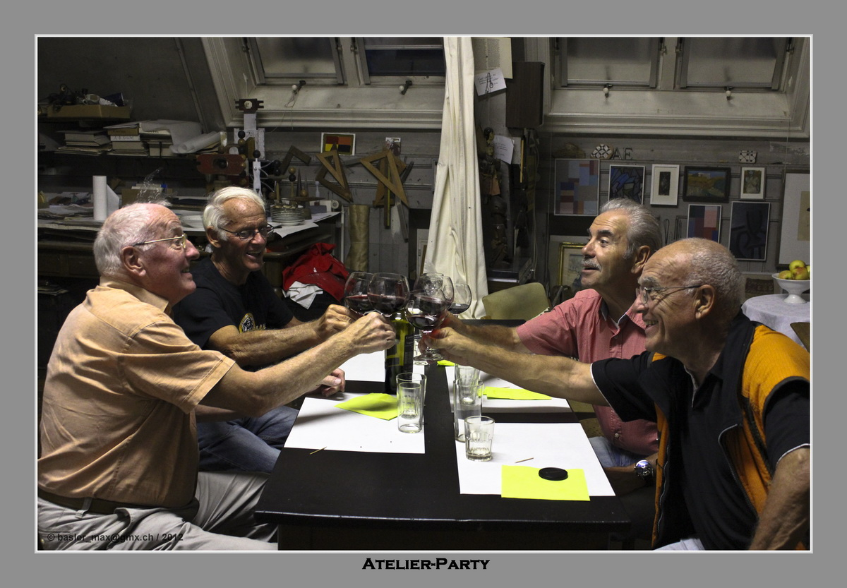 v.l.n.r.: Karli, Rolf, Renato und Max