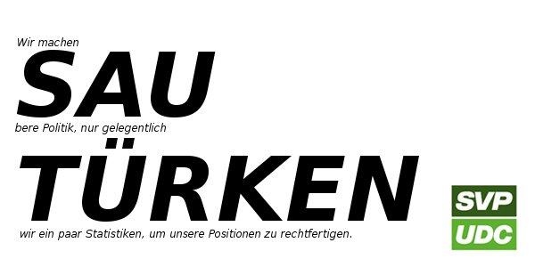 SVP-Propaganda unter der Gürtellinie (erinnert an das 3. Reich)