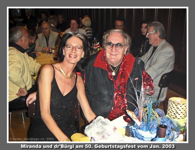 11.1.2003: Geb.-Tags Fest Miranda