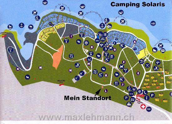 Lageplan Camping Solaris