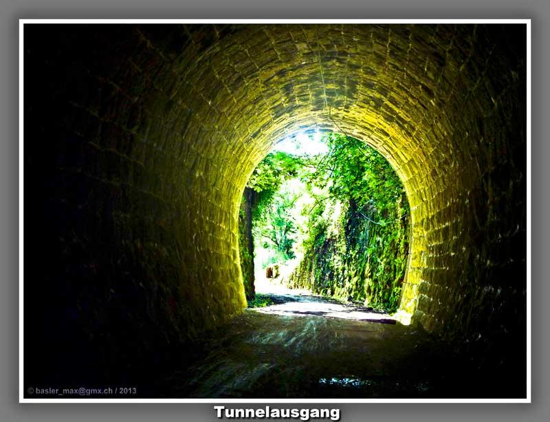 Parenzana Tunnelausgang