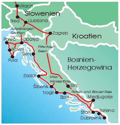 Karte Kroatiens