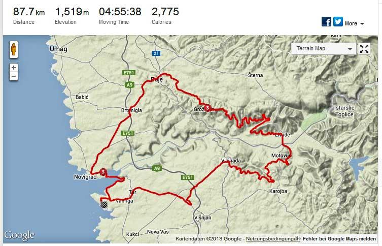 Fahrt über die Parenzana von Solaris via Motovun - Groznjan nach Buje und zurück nach Solaris