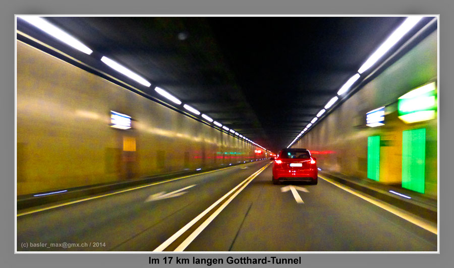 Gotthard Autofahrt