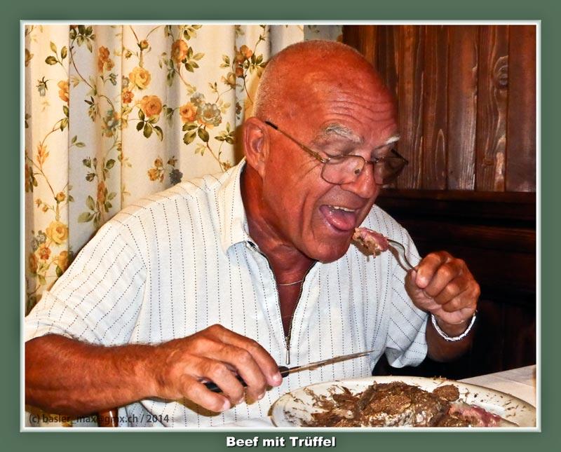 Malo Selo: Trüffel Teigwaren und Steak