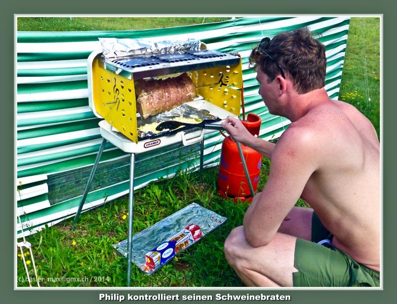 Camping Solaris : Philip und sein Schweinsbraten