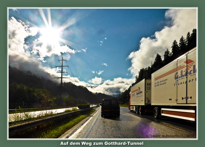 Gotthard Autobahn Wetter