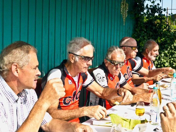 v.l.n.r.: Manfred, Kurt, Hanspi, Peter Arcangelo
