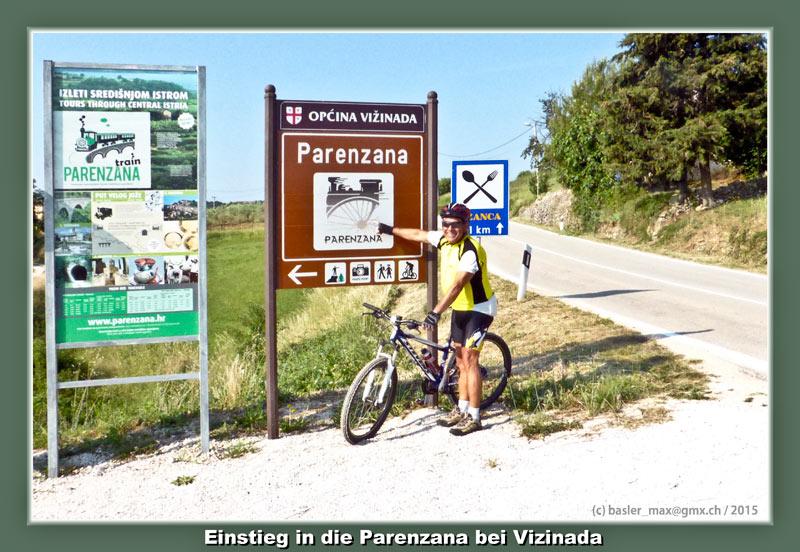 Parenzano Max: Einstieg bei Vizinada