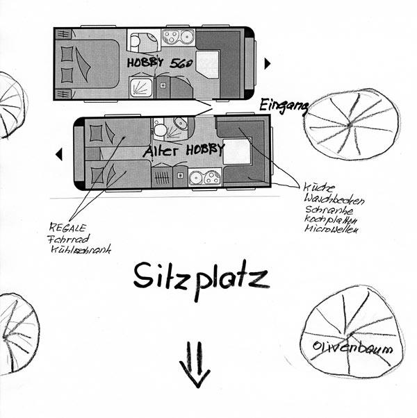 Mein neuer Wohnwagen inkl. mobilen Vorbau