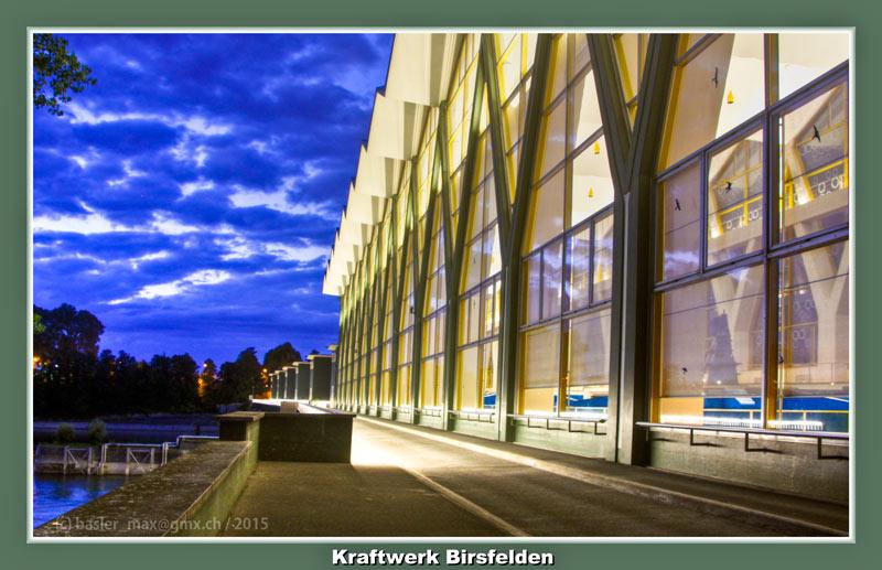 Basel Nacht Kraftwerk Birsfelden