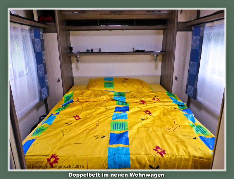 21. April 2016: Mein neuer Wohnwagen Hobby 560 Ffe auf Solaris: Doppelbett