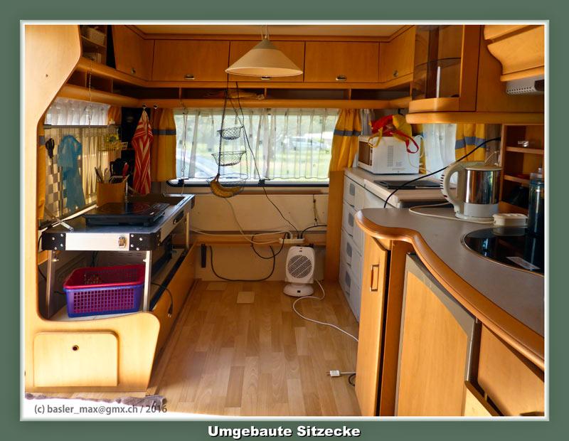 Der umgebaute Wohnwagen