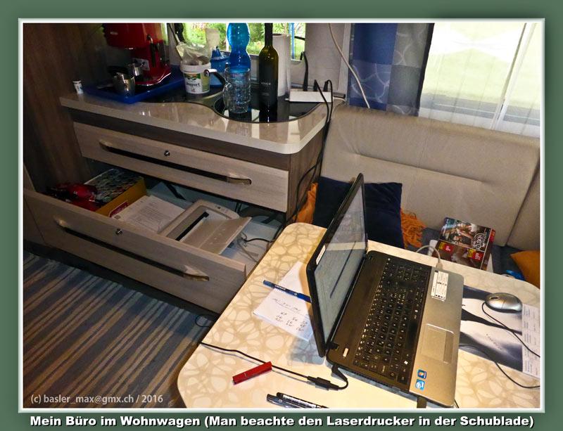 Istrien Solaris Hobby Wohnwagen mein Büro samt Laser Drucker