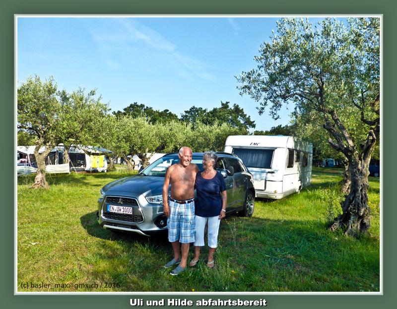 Istrien Solaris: Abfahrt Hilde und Uli