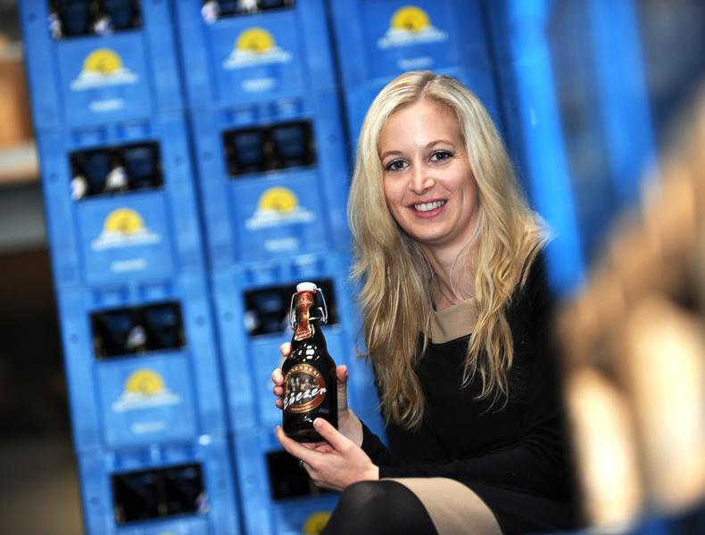 Meine Enkelin Claudia Graf, die Chefin der Brauerei Sonnenbräu