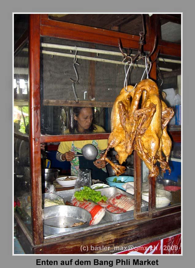 Ente auf dem Bang Phli Market