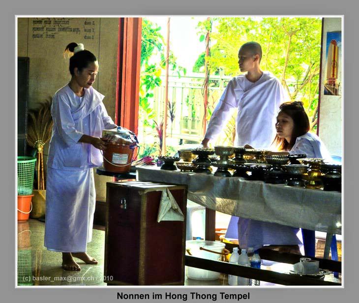Wat Hong Thong: Nonnen