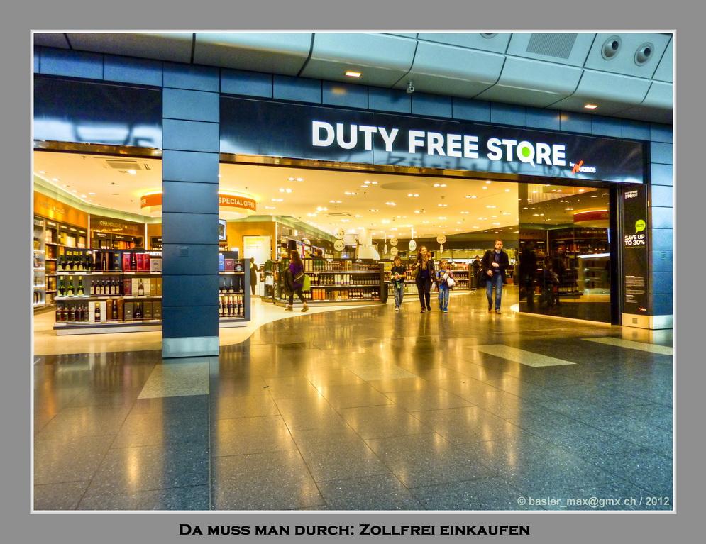 Flughafen Zürich: Duty Free Store
