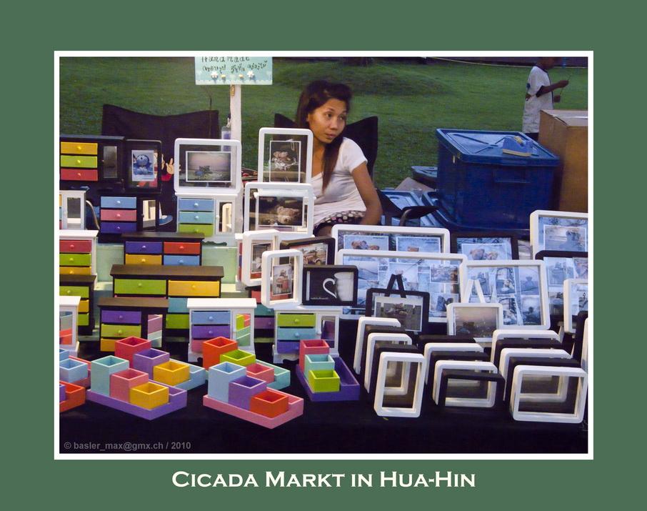 Bilderrahmen auf dem Cicada-Market