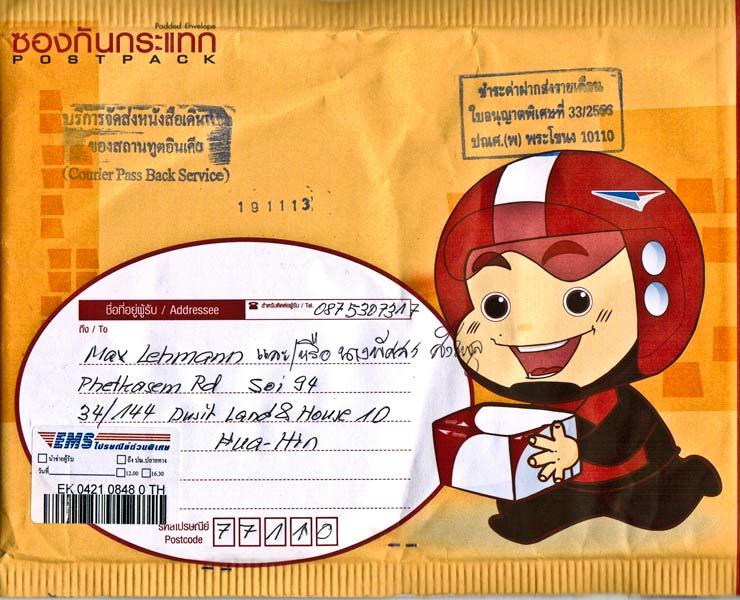 Ein typisches Thaoiland-Kuvert