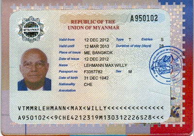 Visum Myanmar Burma