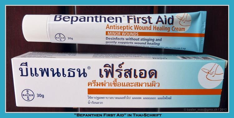 Bepanthen Heilmittel mit Thai Schrift