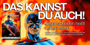 Banner Werde Organspender/