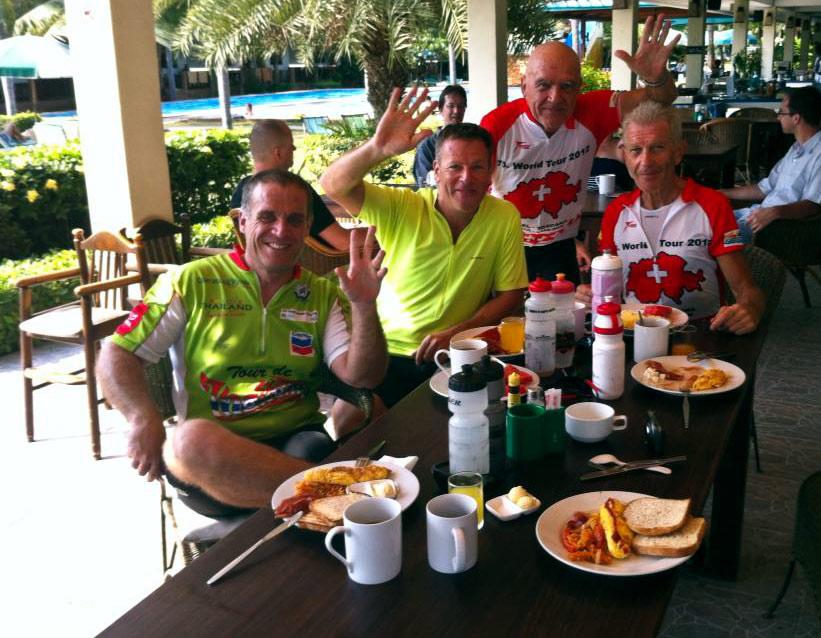 Frühstück auf Dolphin Bay