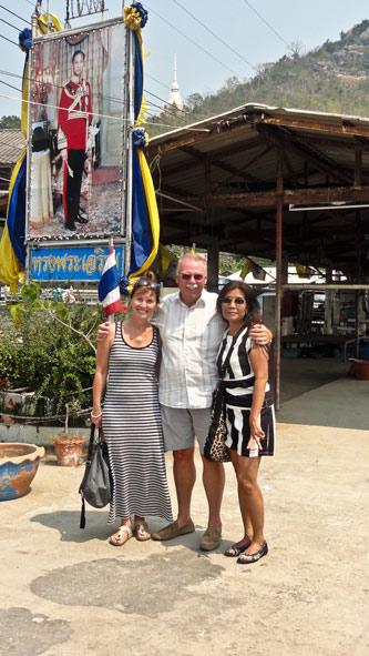 Mit Frans, Katalyn und Pat in Khao Takiap