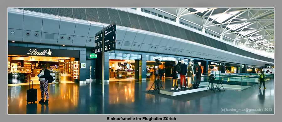 Flughafen Zürich: Einkaufsmeile