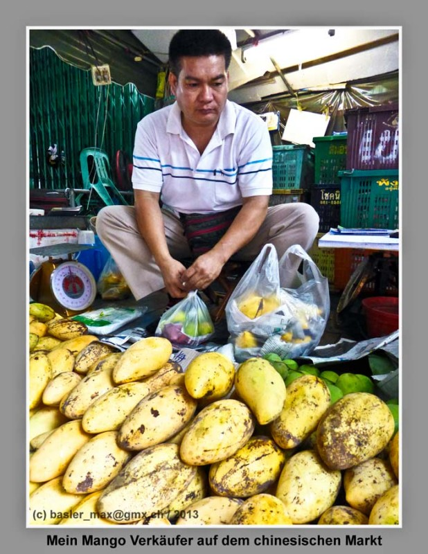 Hua-Hin Markt: Mango-Mann