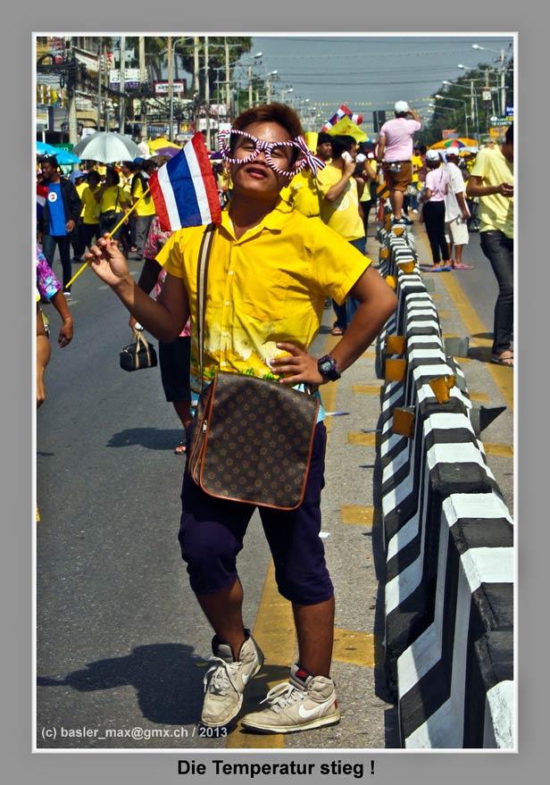 Hua-Hin: 5. Dez. Geburtstag des König Bhumibol: Gay