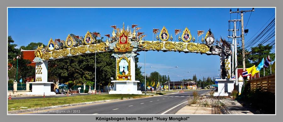Wat Huay Mongkol Tempel; Königs Monument