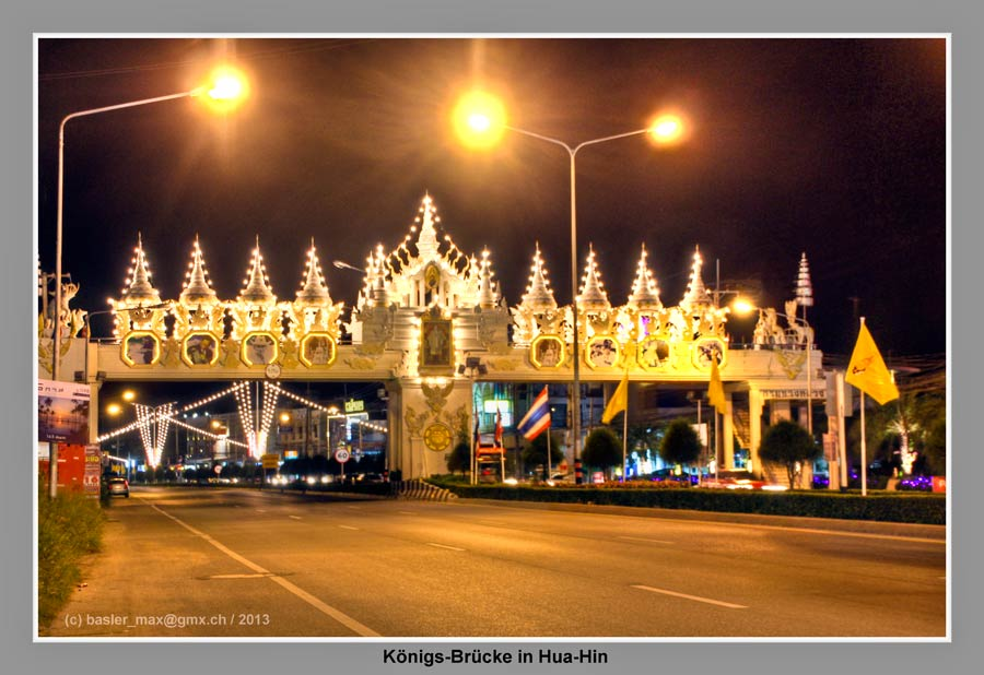 Hua-Hin Christmas Night HDR König Monument