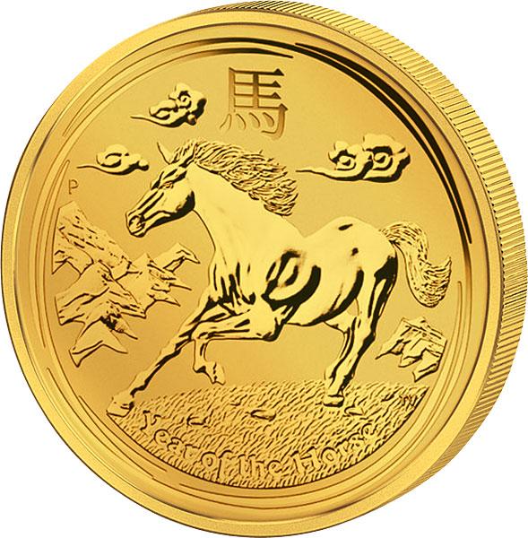 Australische Münze zum Jahr des Pferdes