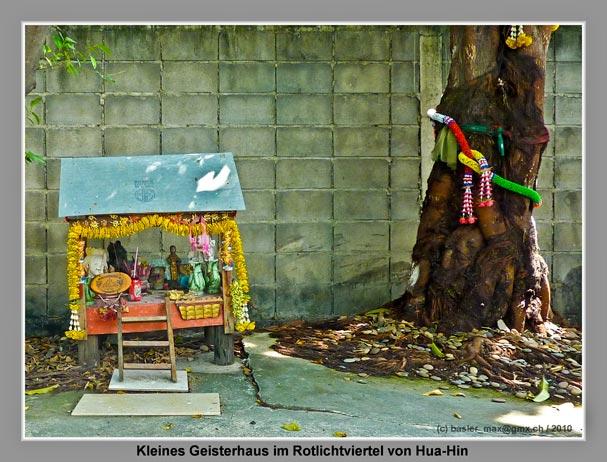 Hua-Hin: kleines Geisterhaus im Rotlichtviertel