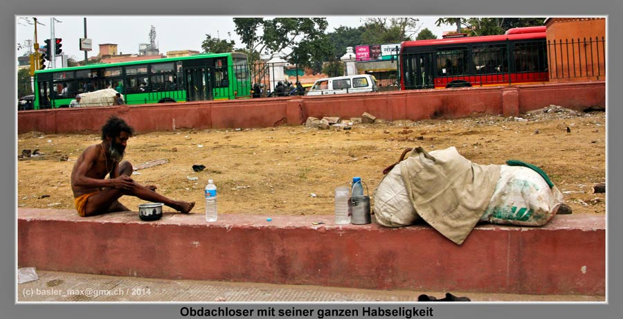 Jaipur Obdachloser