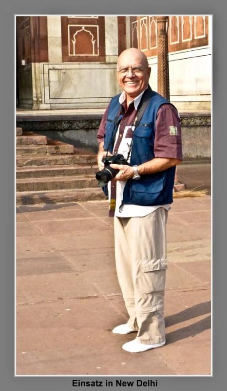 New Delhi, Masjid-i-Jahanuma, Moeschee der Moscheen: Max im Einsatz