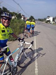Hua-Hin: Max mit dem neuen Rennrad