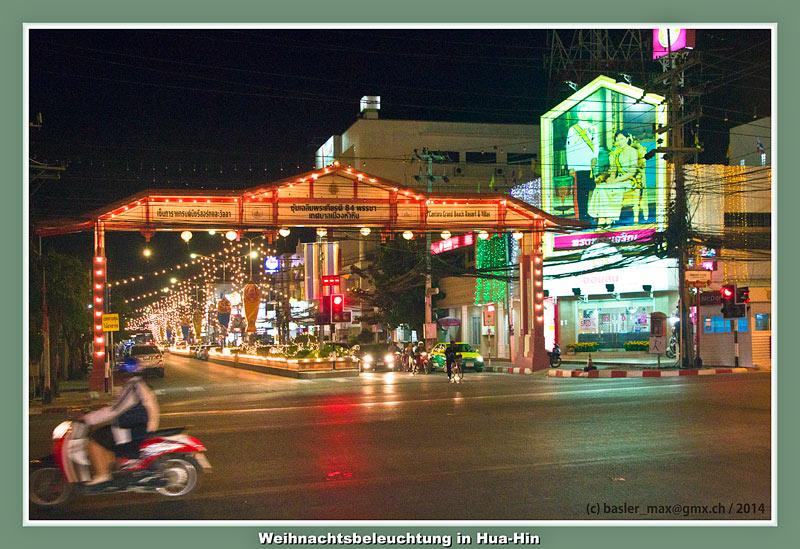 Hua-Hin Bahnhofstrasse Weihnachtsbeleuchtung