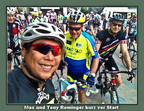 Hua-Hin Roadies mit Tony Rominger kurz vor dem Start