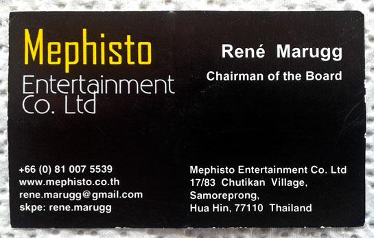 Visitenkarte Rene Marugg